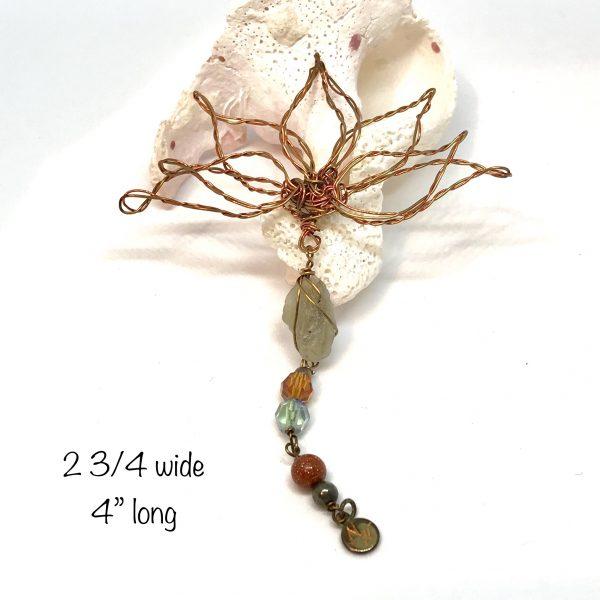 wire flower art or jewelry