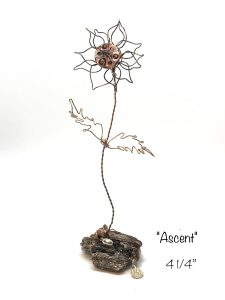 wire flower ascent art or whimsey