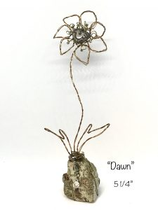 wire flower dawn art or whimsey