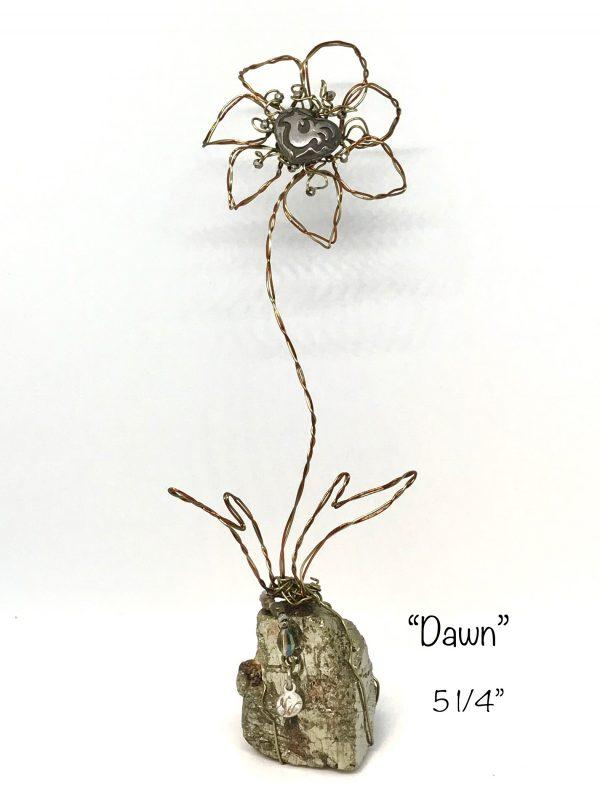 wire flower dawn art or whimsey